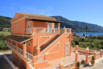 Detailed description of Corfu Apartments Villa Magda in Agios Georgios Pagon (Pagi) near the beach with sea view and with many pictures.