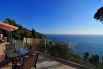 Detailed description of Corfu Holiday House Villa Meli in Afionas near Agios Georgios Pagon (Pagi) with magnificent sea view with many pictures.