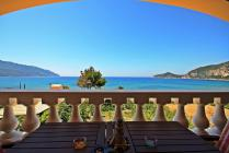 Detailed description of the Corfu Holiday House Agrilia with fantastic sea views near the beach in Agios Georgios Pagon (Pagi) with many pictures.