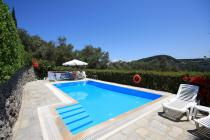 Detailed description of Corfu Pool Villa Stathis with private pool in Agios Georgios Pagon (Pagi) with many pictures.