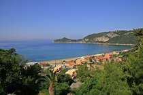 Detailed description of Corfu Apartments Theodora in Agios Georgios Pagon (Pagi) with great sea view with many pictures