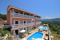 Detailed description of Corfu Apartments Angeliki with shared pool in Agios Georgios Pagon (Pagi) with fantastic sea view with many pictures