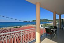 Detailed description of Corfu Apartment Athina in direct beach location in Agios Georgios Pagon (Pagi) with great sea view with many pictures